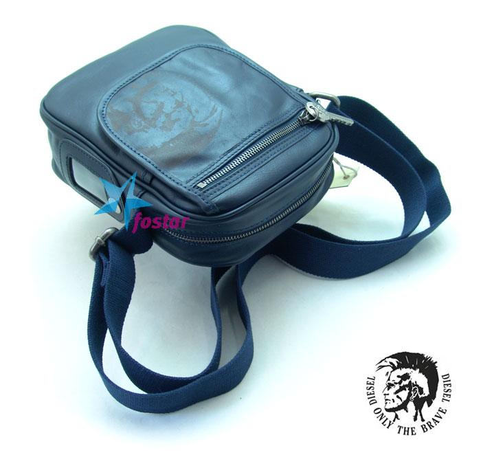 Мужская кожаная сумка через плечо Diesel D1305-15BL
