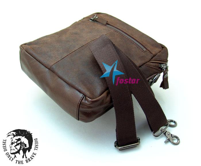 Темно-коричневая сумка через плечо Diesel D191115-2BR