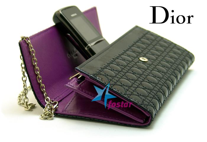 Женская вечерняя сумочка клатч Christian Dior CD888-1BK