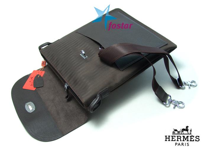 Сумка мужская планшет через плечо Hermes AT3121BR
