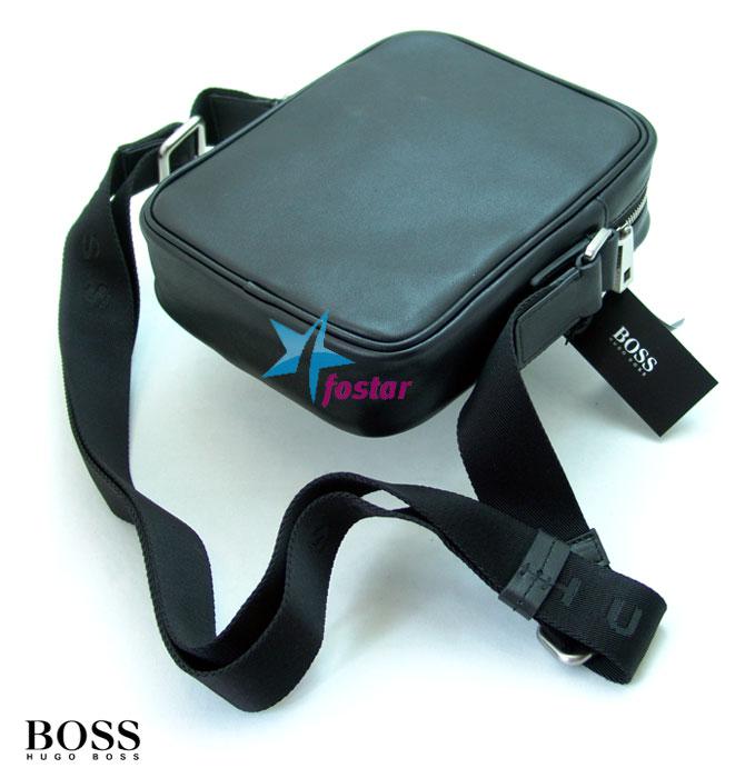 Маленькая мужская сумка через плечо Hugo Boss 40515BK