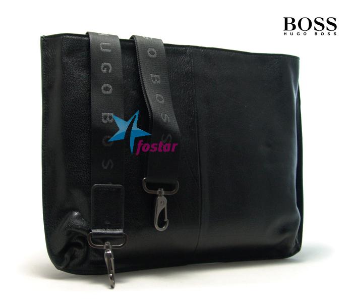 Мужская сумка через плечо для документов Hugo Boss D221-3BK