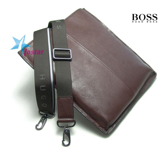 Мужская сумка-планшет Hugo Boss D221-4BR через плечо