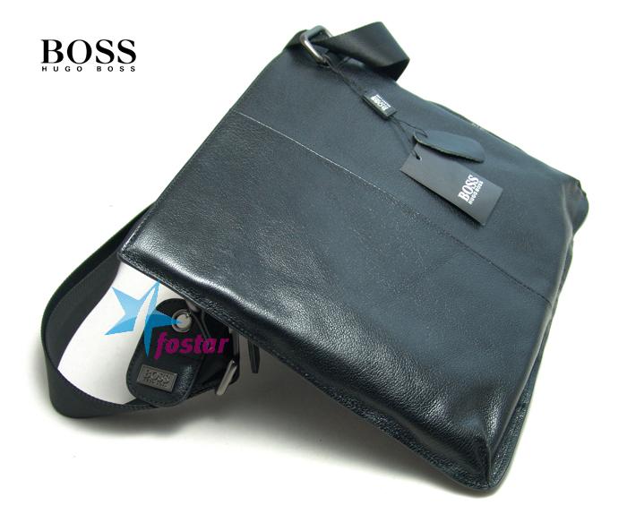 Мужская черная сумка через плечо Hugo Boss D6993-3BK