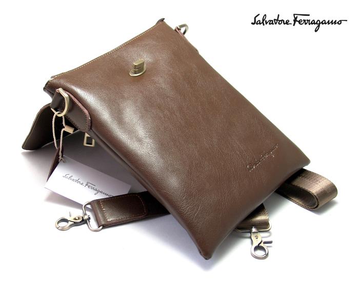 Мужская сумка через плечо Salvatore Ferragamo 8884-2BRW