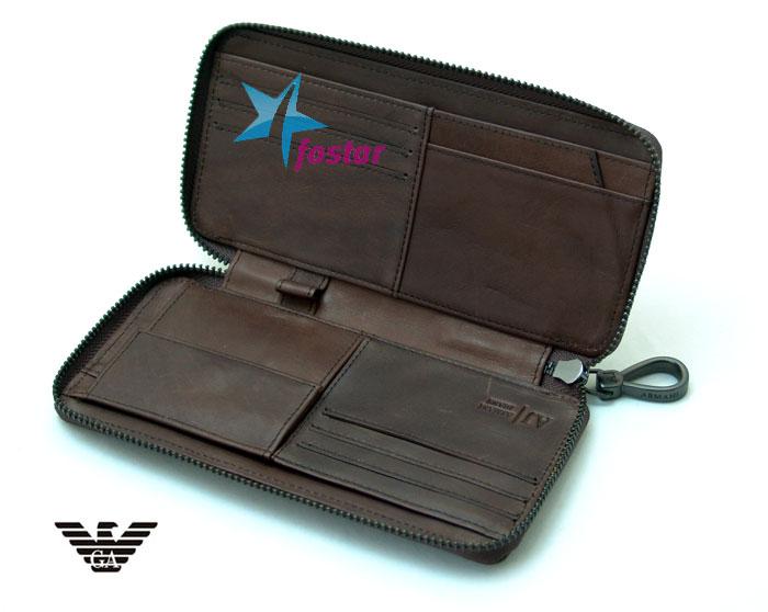 Кожаный мужской клатч Armani Jeans 031BR