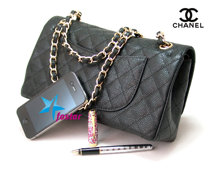 Женская кожаная сумка Сhanel CH1112BK