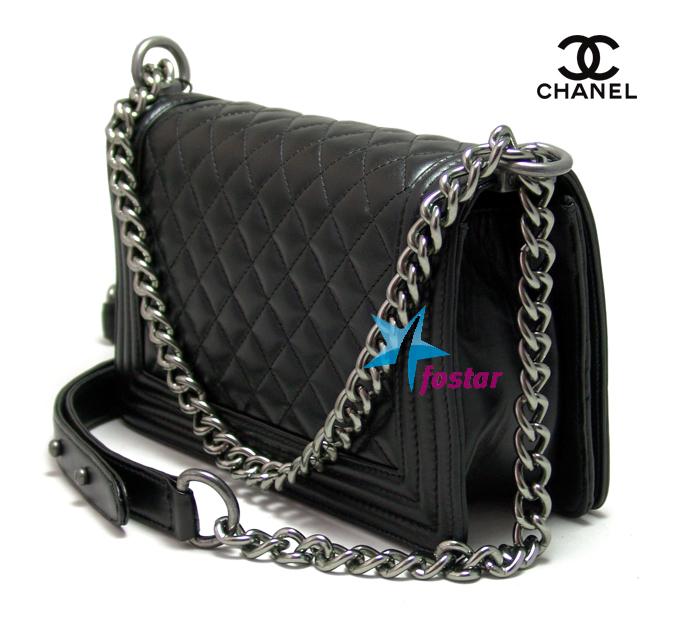 Черная женская сумка Сhanel CH67086BK