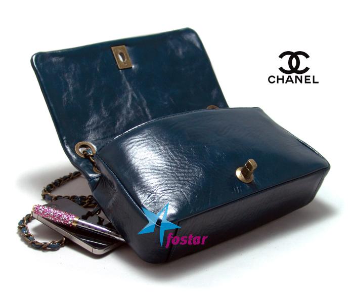 Синяя женская кожаная сумка Сhanel CH67128BLUE