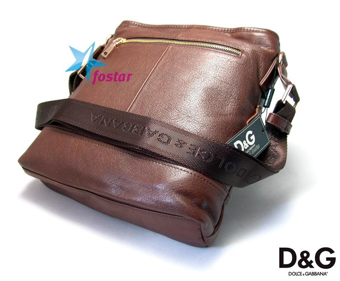 Кожаная сумка через плечо Dolce Gabbana 9211-3BR