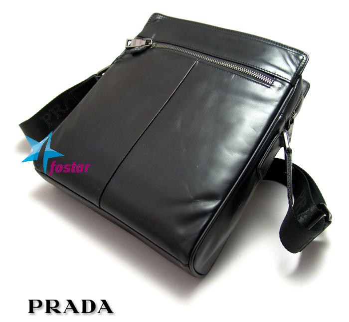 Черная мужская сумка через плечо Prada 8917-4BK