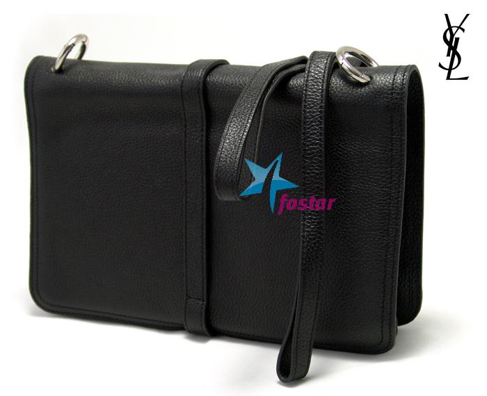 Черная женская сумка планшет Yves Saint Laurent 6052LBK